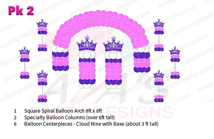 Balloon Castle, princess decoration, balloon packages