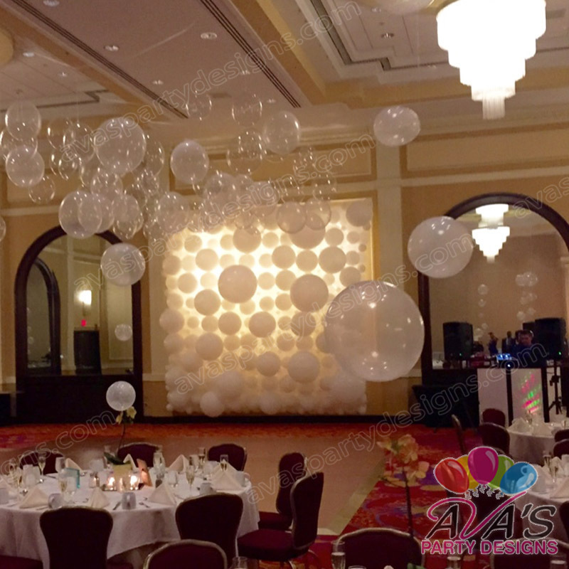 Wedding Backdrop, balloons for wedding, white balloon decoration