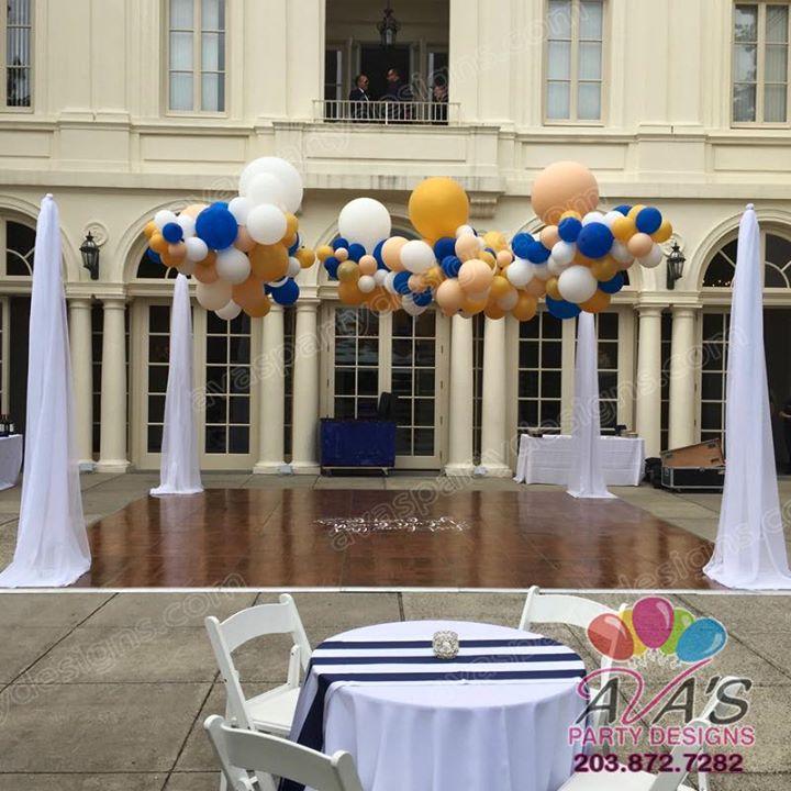 Outdoor Fabric Decor, wedding dancefloor, Party Rental