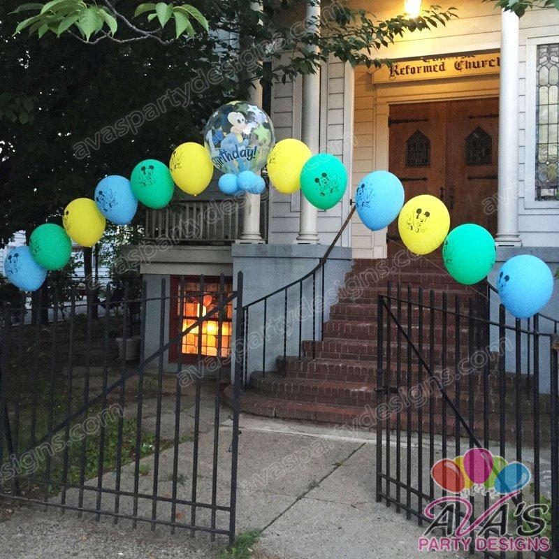 Baby Mickey Balloon Arch, mickey mouse balloon arch