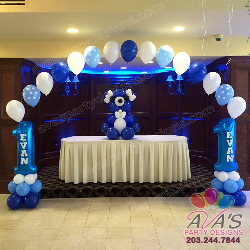 Balloon decor gallery ava party designs for 1st birthday stage decoration