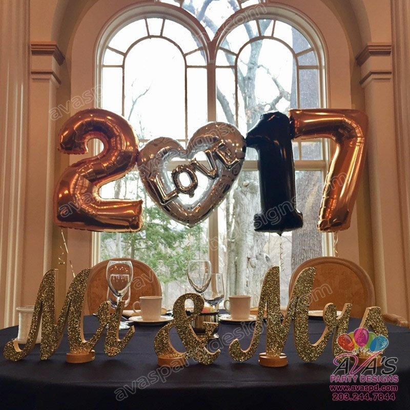 NYE Wedding Balloon Backdrop
