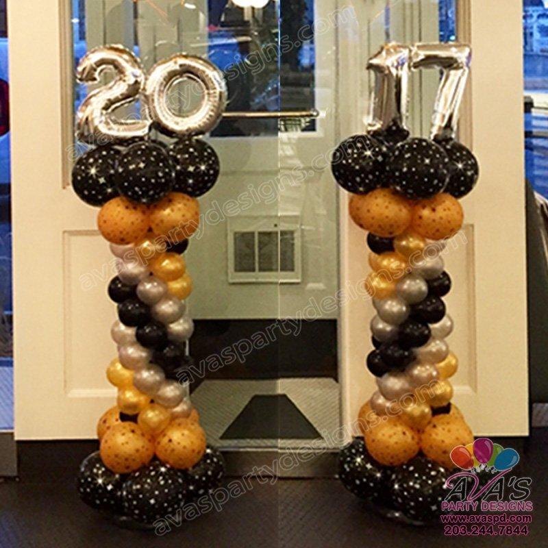 Number Topper Balloon Column, Balloon Columns
