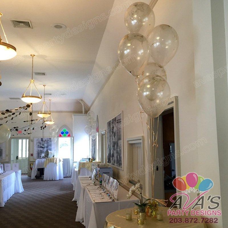 Balloons with glitter inside, glitter balloon bouquet, glitter balloon centerpiece
