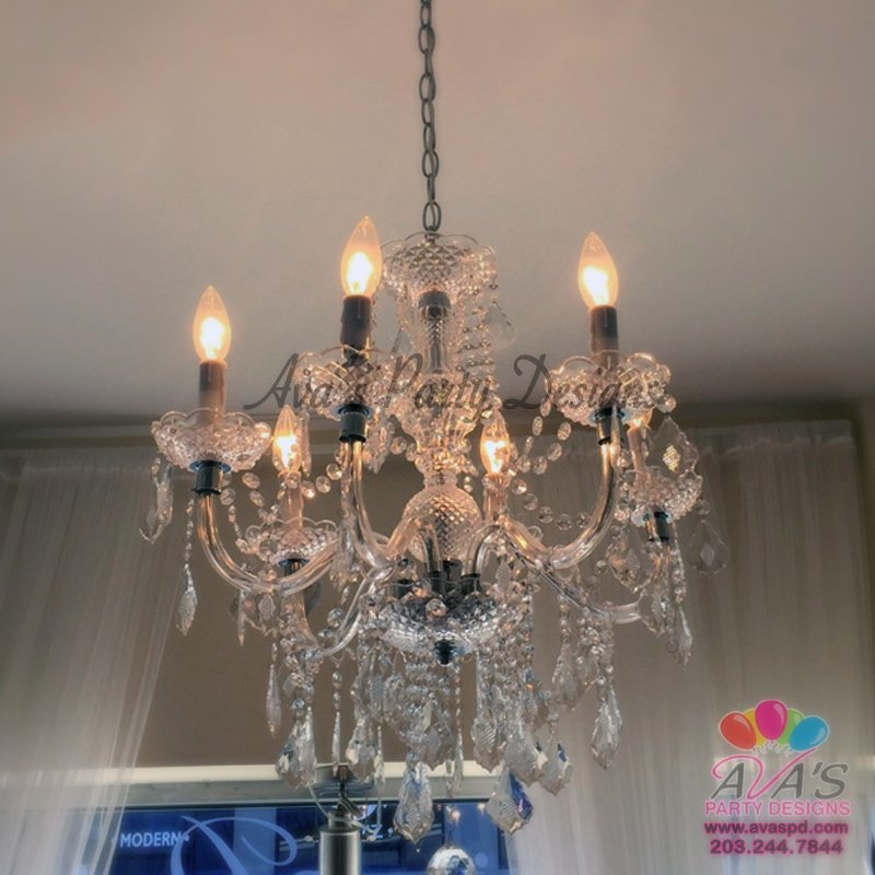 Pipe and Drape Chandelier, party rentals