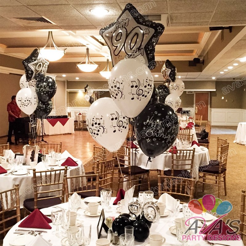 Balloon bouquets fairfield county ct ny for 90th birthday decoration ideas