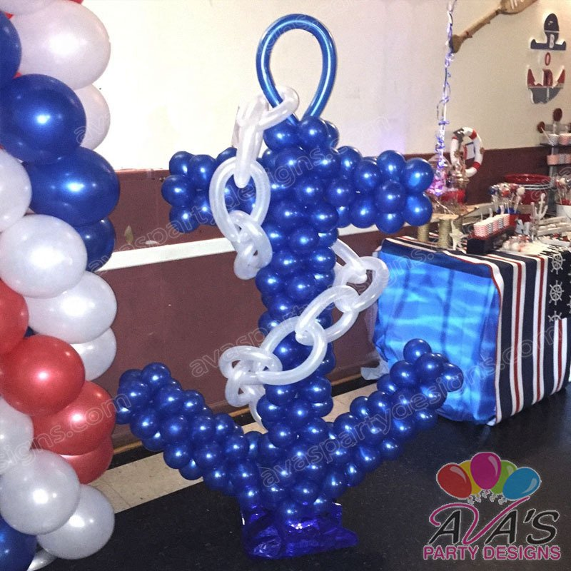 Nautical Balloon Anchor Sculpture