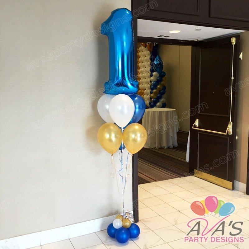 1st Birthday Balloon Bouquet, entrance balloon decoration