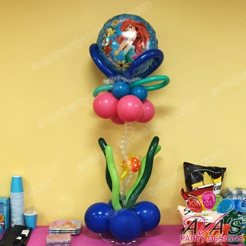 Ava's Party Designs, under the sea balloon centerpiece, the little mermaid balloon decoration