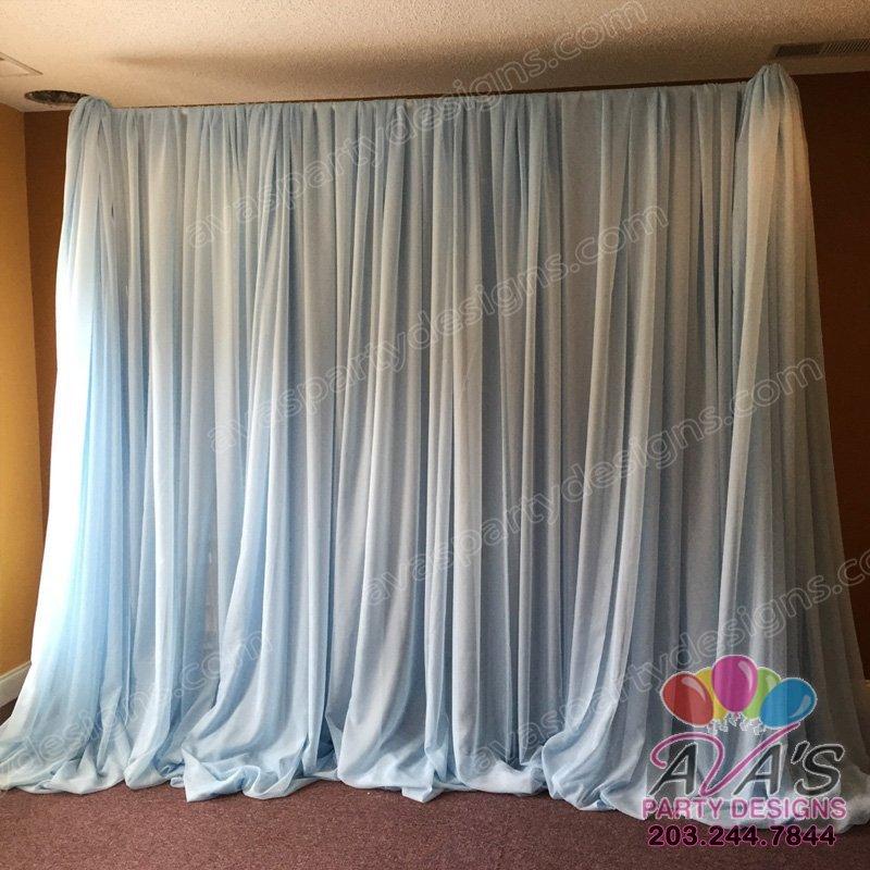Simple fabric backdrop, draping ideas