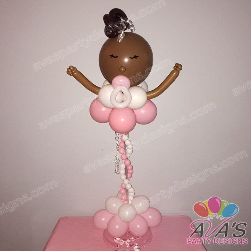 Baby Girl Balloon Centerpiece, Baby Shower Balloon Centerpiece, baby shower balloon decorations, balloon decor ideas for baby shower
