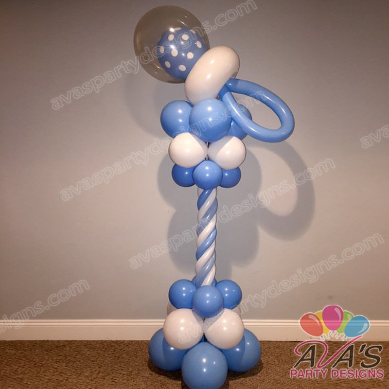 baby pacifier column, baby shower decor