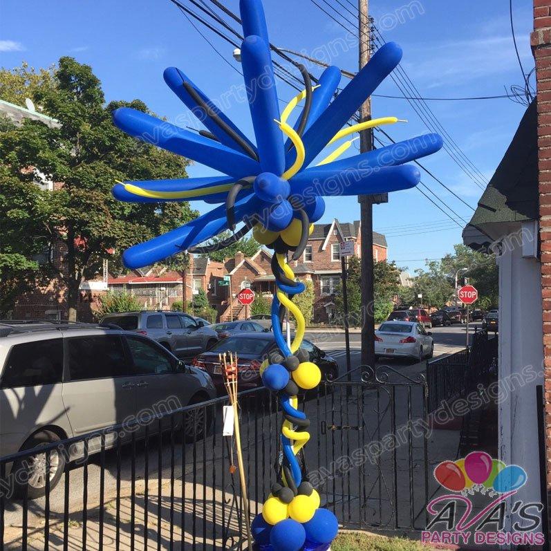 Starburst Balloon Tree, balloon tree, carnival decor