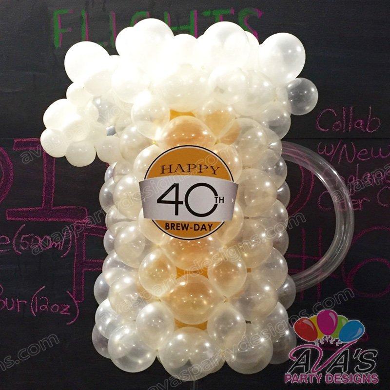 Beer Mug Balloon Sculpture, Balloon Decoration