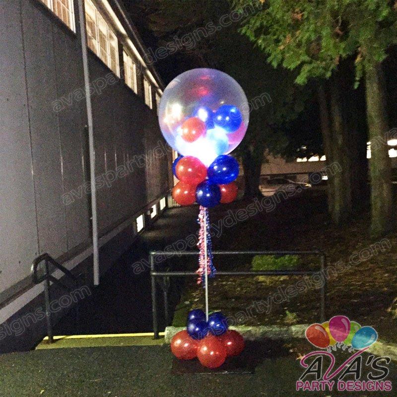 Light up Big Topper Gumball Balloon Column, Balloon Decoration