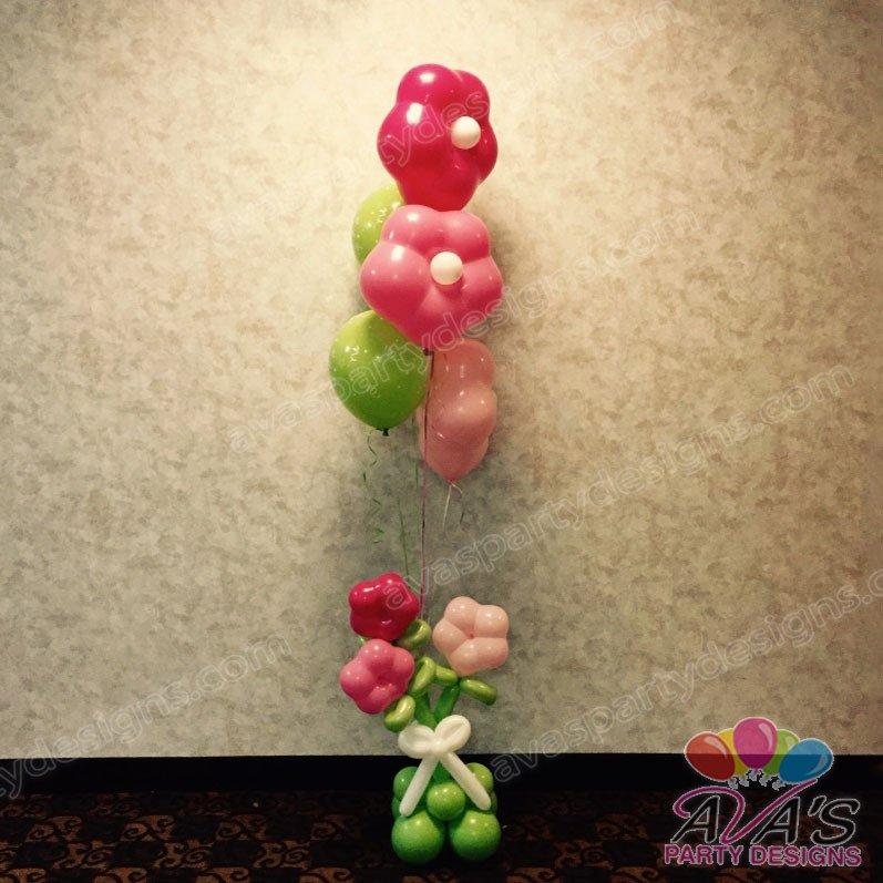 Spring Flower Theme Balloon Bouquet, flower balloons