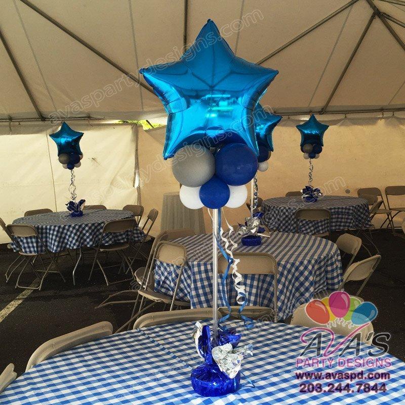 Small Star Topper Balloon Centerpiece, table balloon decoration