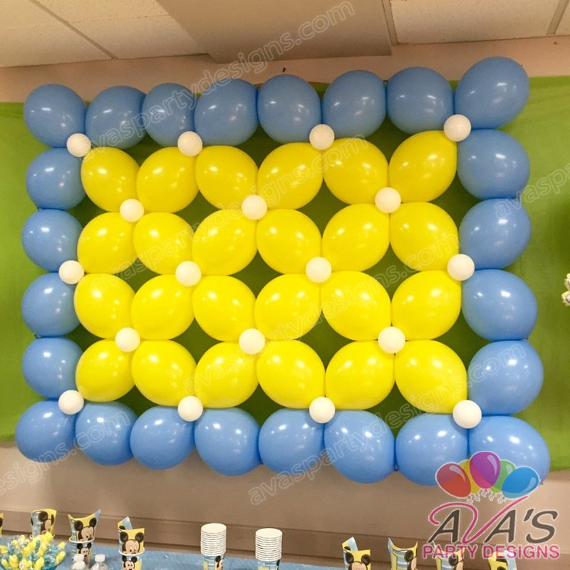 Wall Balloons Decoration: Balloon backdrop decorations. Best balloon ...