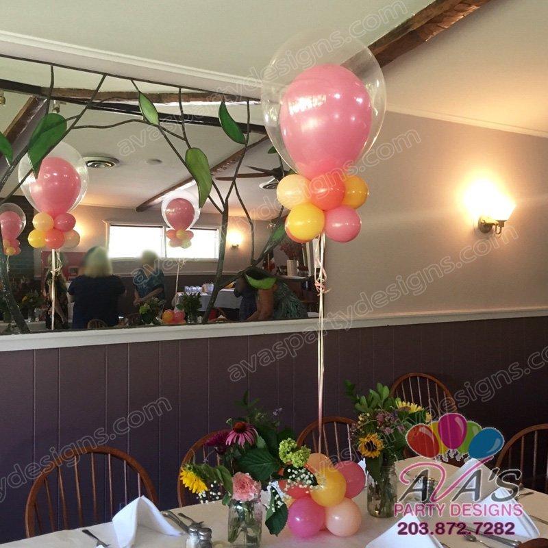 Fantasy Bubble Balloon Centerpiece, double stuff balloon centerpiece, double bubble balloon