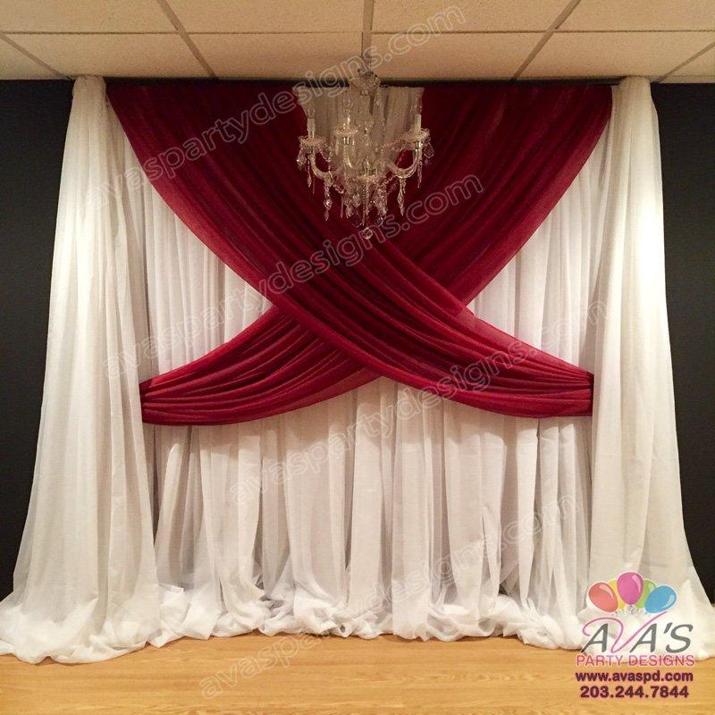 Pipe & Drape, Fabric Draping, Backdrop rental