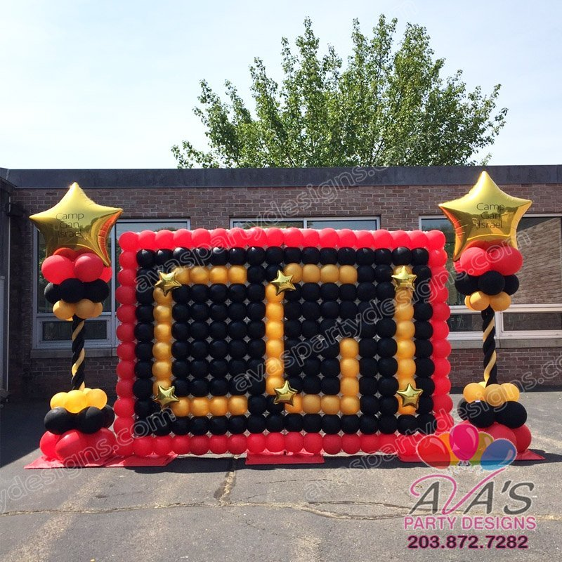 Corporate Balloon Decoration, Balloon wall with company initials