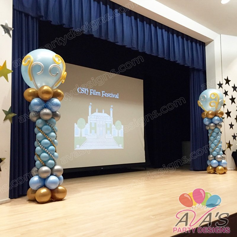 Festive Balloon Column, balloon decoration for school events