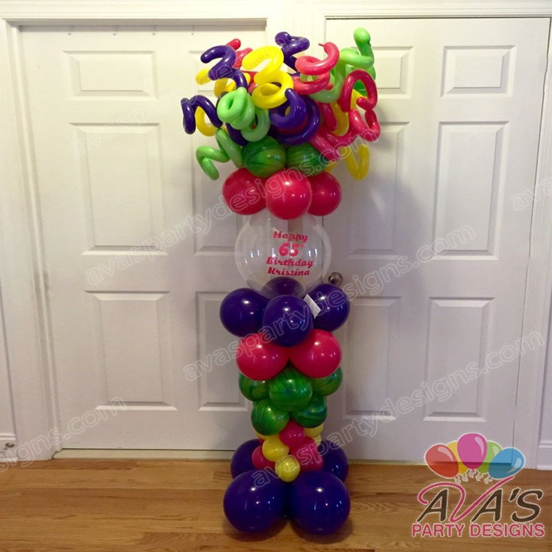 Carnival Balloon Column, Balloon Column, Mardi Gras Balloon Column