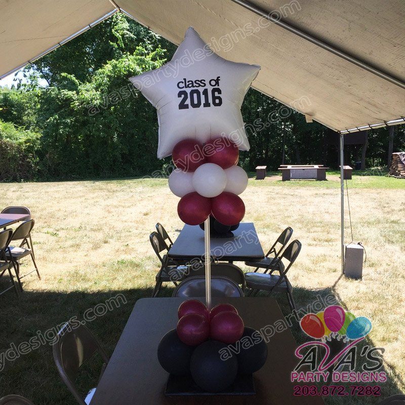 Bethel High School Color Balloon Centerpiece