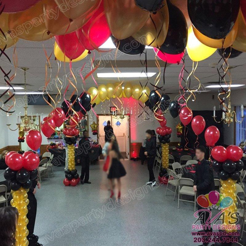 Balloon Dance Floor Canopy, sweet 16 balloon decoration.