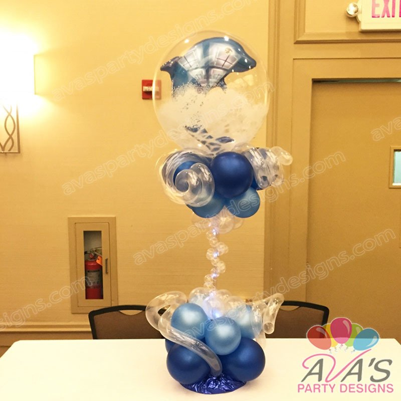 Ava's Party Designs, balloon centerpiece, under the sea balloons, beach balloons