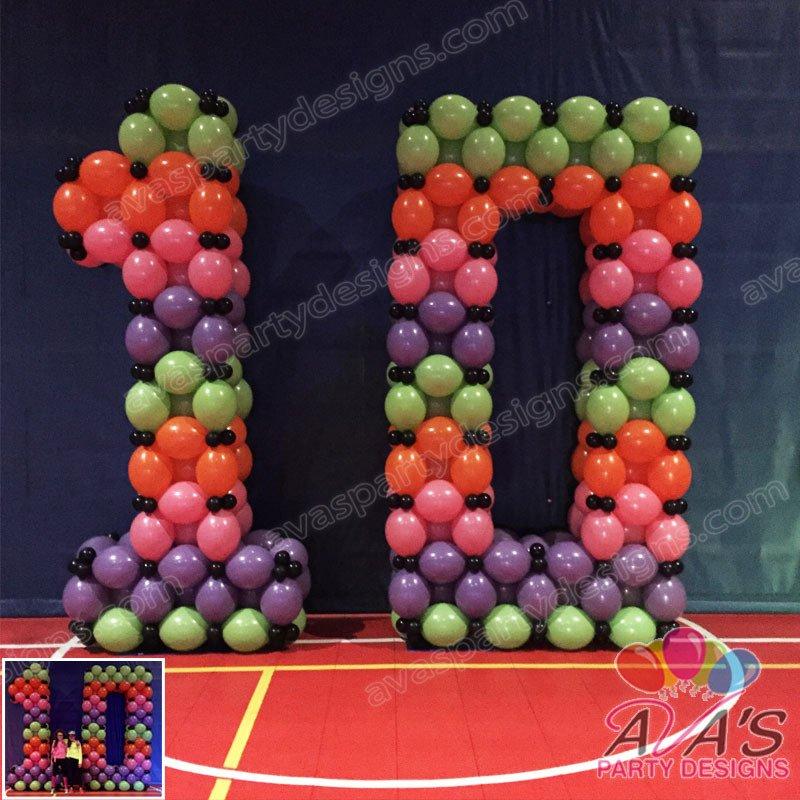 Number Balloon, Quicklinks Balloon, Birthday Balloon Sculpture, Ava's Party Designs