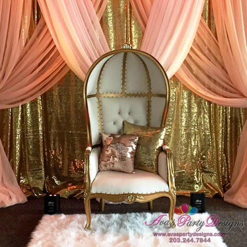 Luxury Baby Shower Chair, Party Rental