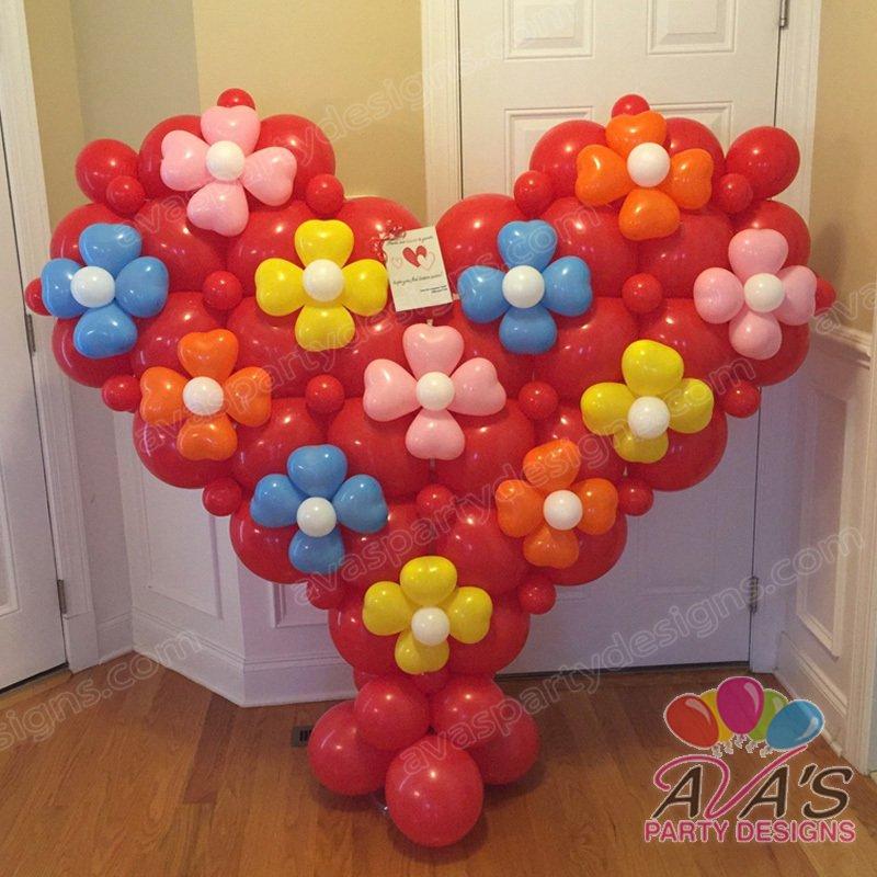 Quicklinks Balloon, Heart Balloon Sculpture, Ava's Party Designs