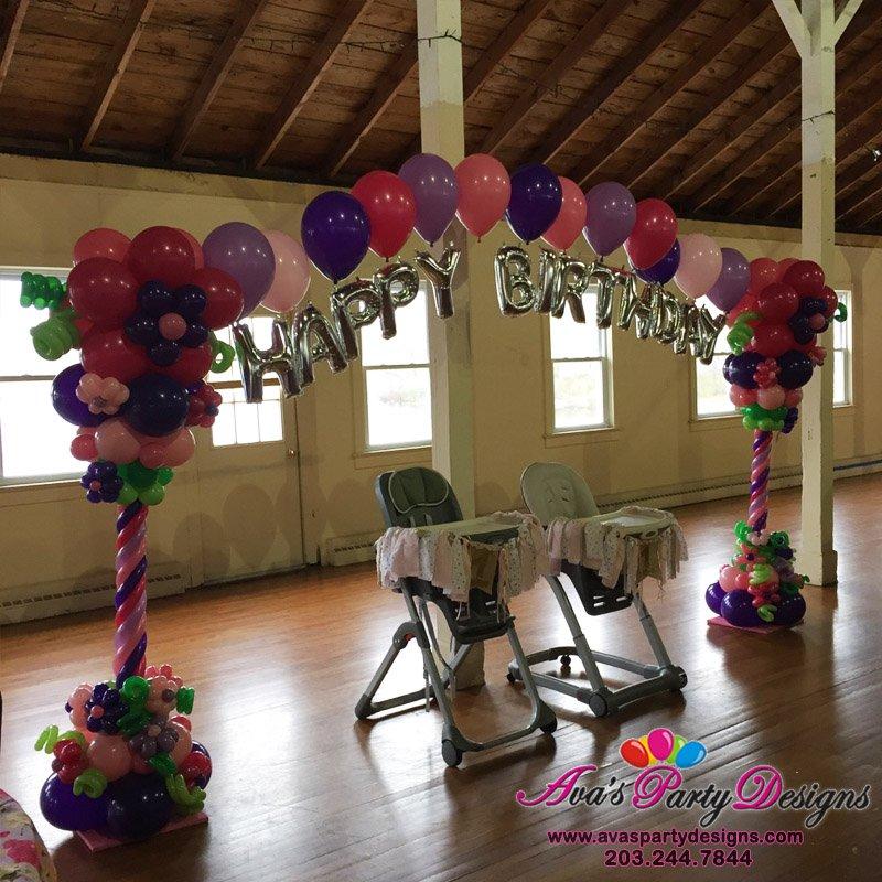 Letter Balloon Arch, flower Balloon decoration