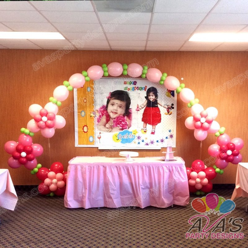 Balloon decor fairfield county ct ny for Balloon decoration for first birthday