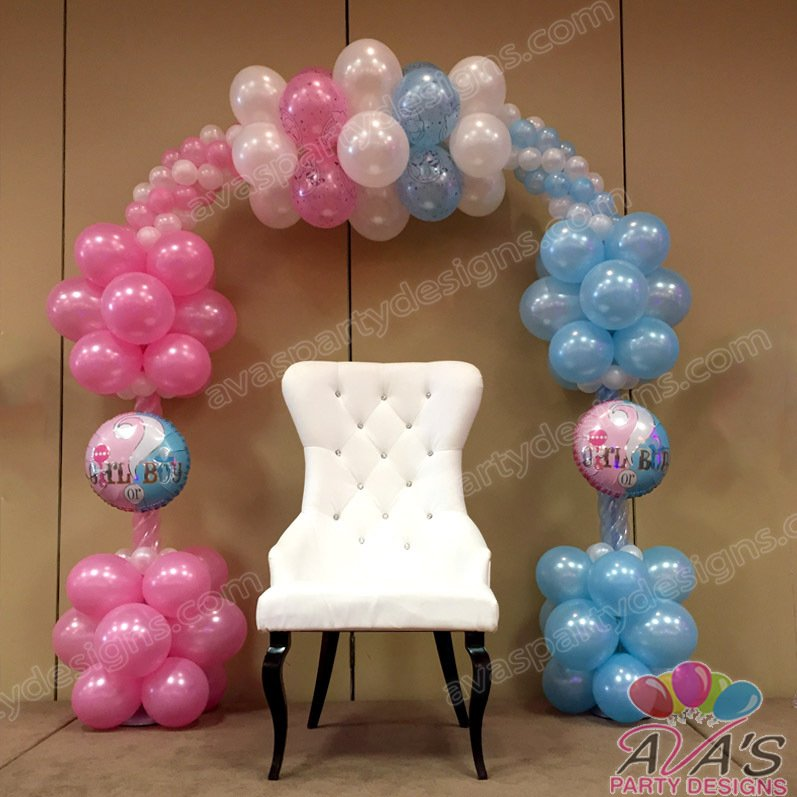 balloon arch, baby shower balloon arch, baby shower balloon ideas