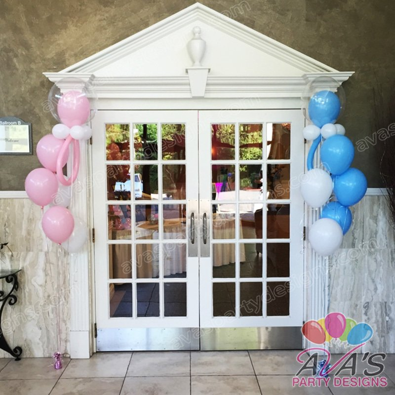 Baby Shower Balloons, baby shower balloon decorations, balloon decor ideas for baby shower