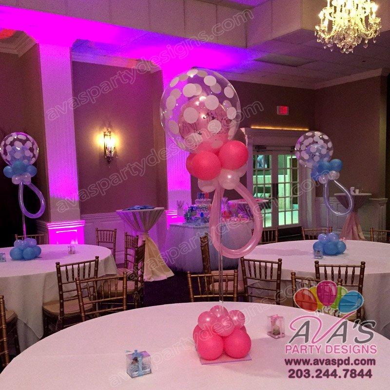 Polka Dot Bubble Balloon Pacifier, baby shower balloon centerpiece, baby shower balloon decoration, balloon pacifier