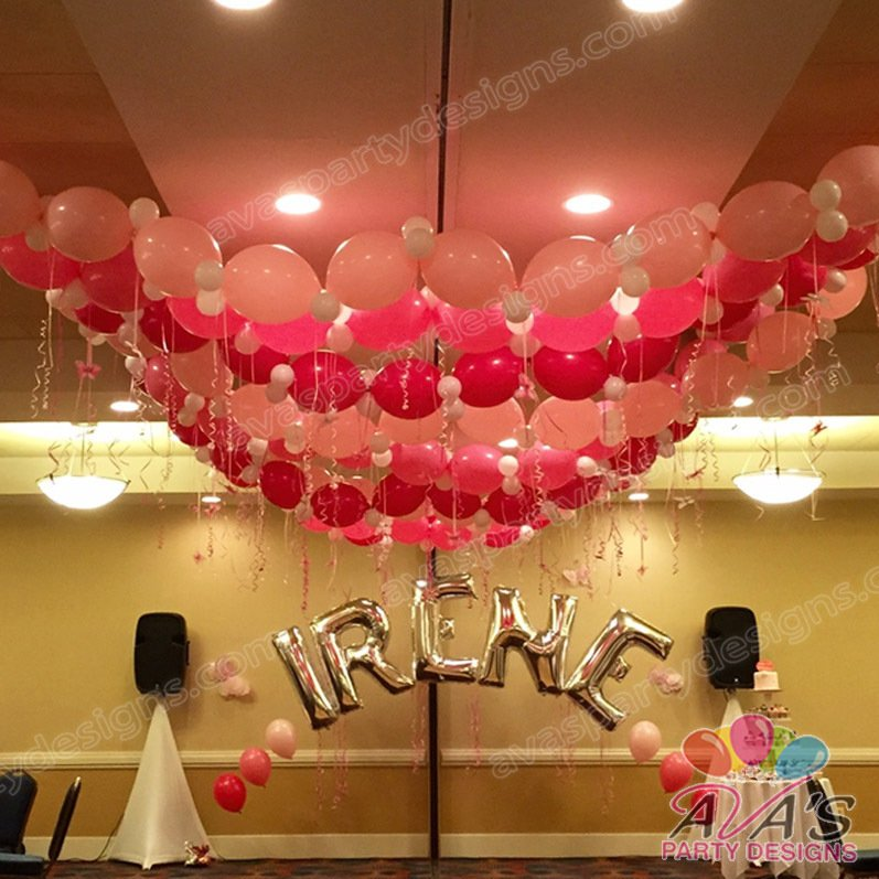 balloon ceilings, balloon ideas for the ceiling, balloon decorations