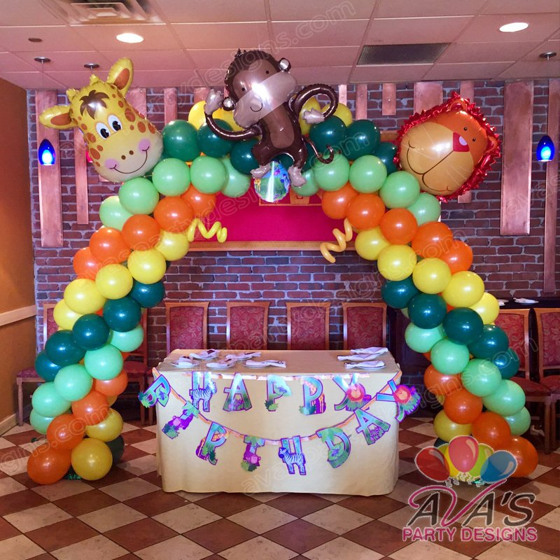 Animal Arch, Safari Balloon Arch, Jungle theme balloon decoration