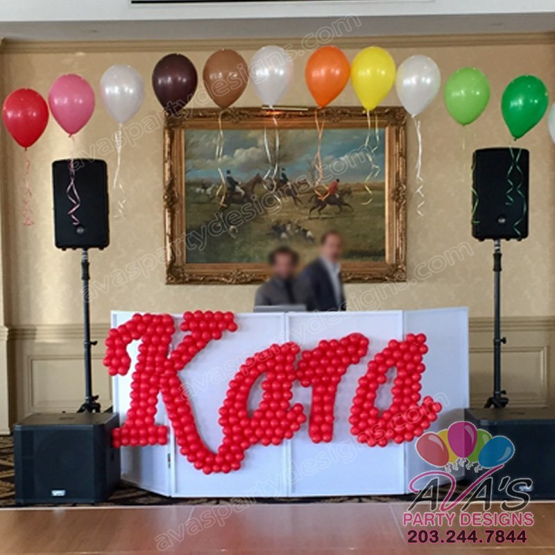 Balloon Overlay Name Sculpture, Personalized Balloon Name Decoration, Balloon Decor