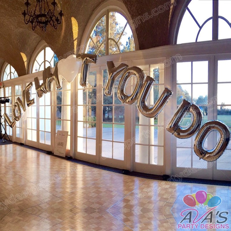 Jumbo Letter Balloon Arch, name balloon arch