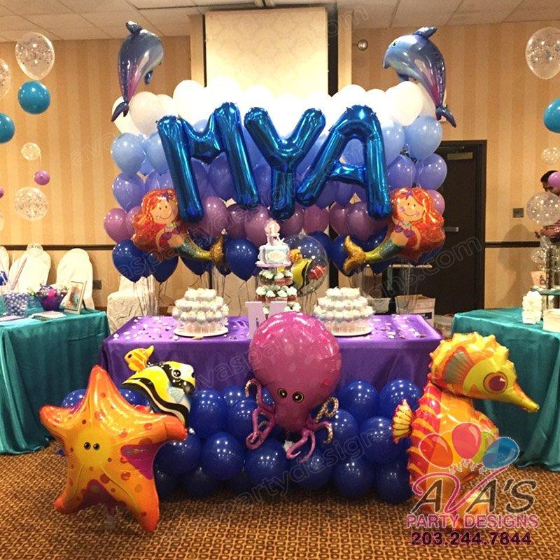 Mermaid balloon wall, under the sea balloon decoration, balloon decoration
