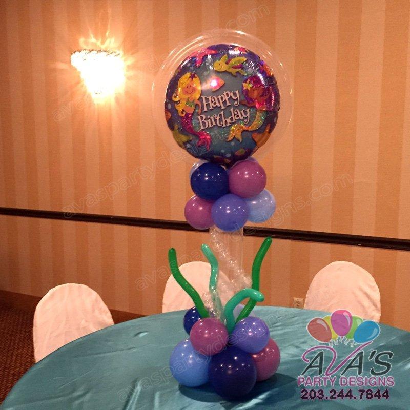 Merri Mermaid Balloon Centerpiece, under the sea theme balloons