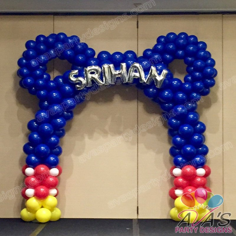 Mickey Mouse Balloon Arch, mouse head arch, balloon decoration