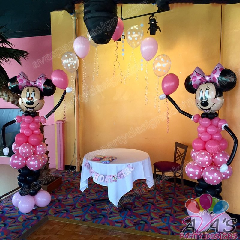Minnie Mouse balloon arch, balloon arches, minnie mouse balloon arch