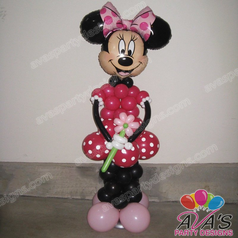 minnie mouse balloon sculpture, minnie mouse balloon decoration, balloon sculpture