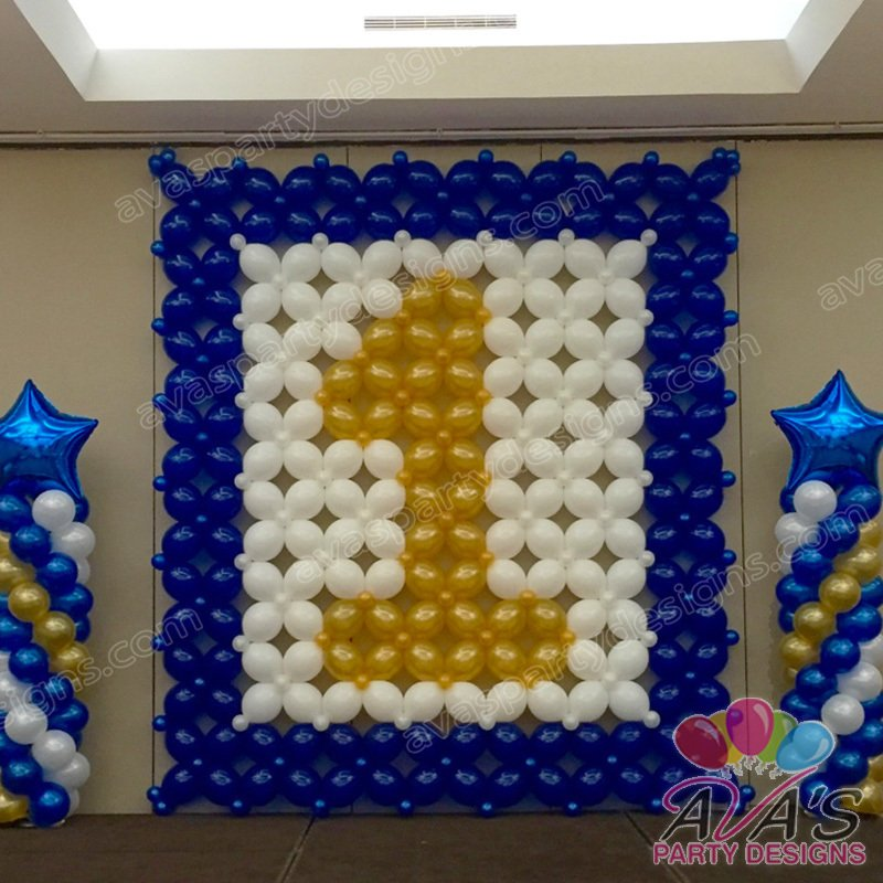 Balloon walls backdrops fairfield county ct ny for Number 3 decorations