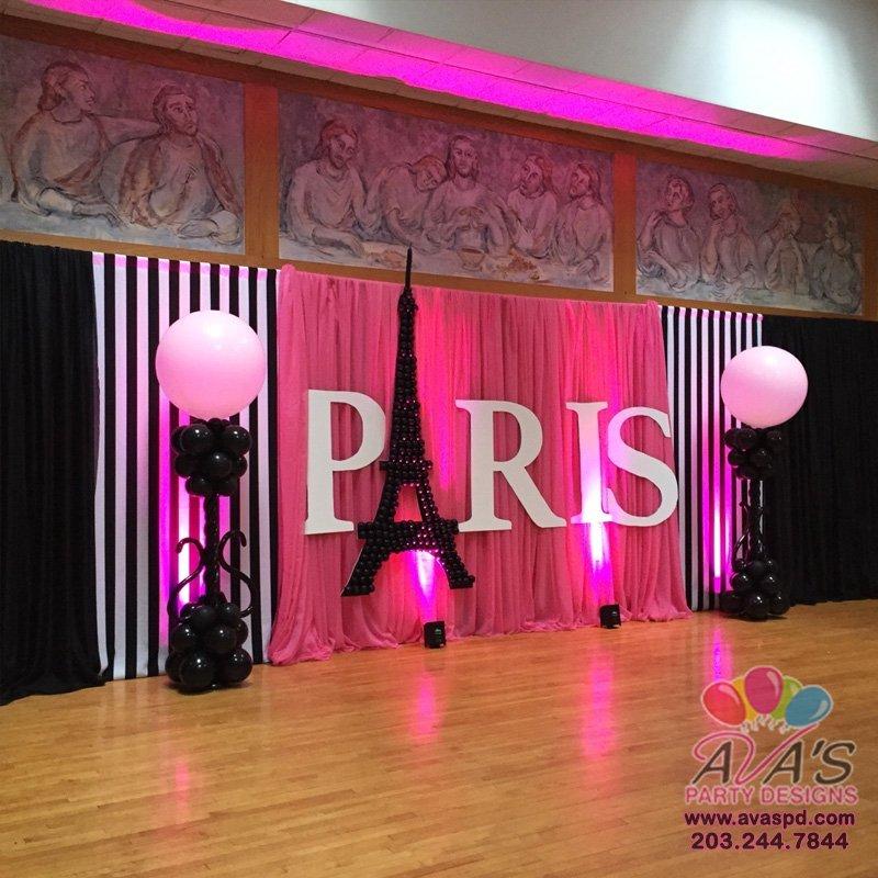 Paris Themed Party Rental, Pipe & Drape