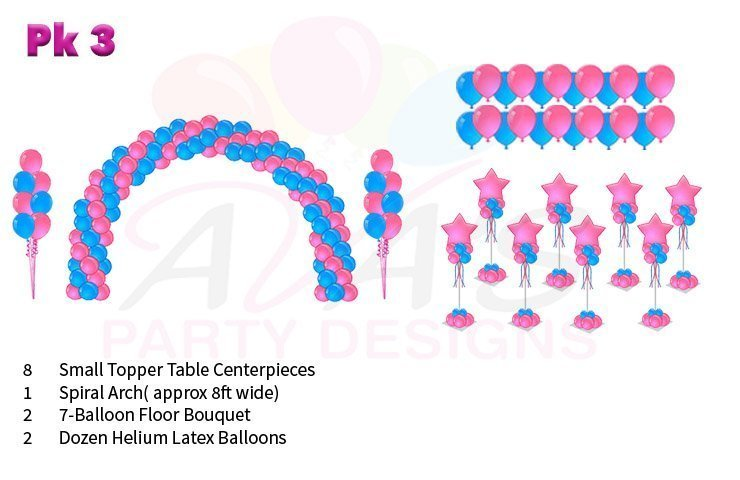 Basic Party Package balloon decoration, balloon packages